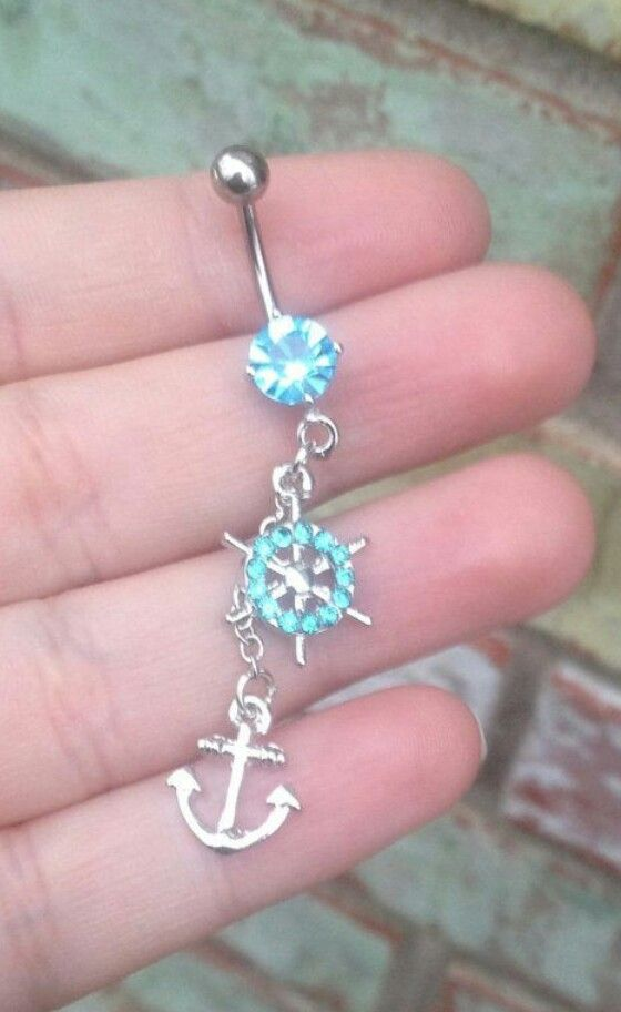 Anchor belly button ring someone get me this please pretty please