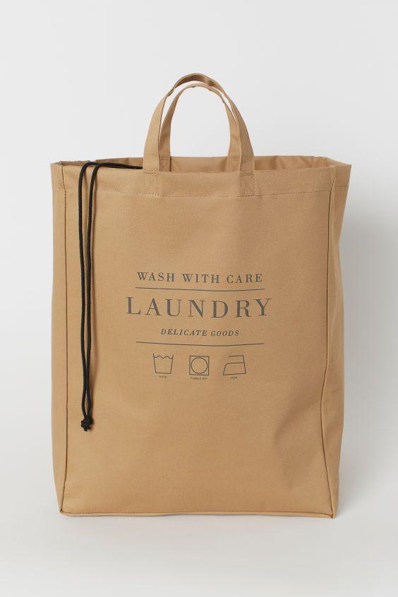 Laundry Bag En 2020 Bolsas De Lavanderia Beige H M
