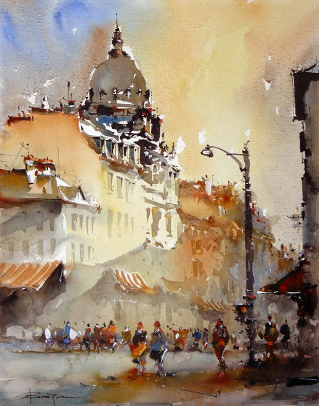 133 best images about art corneliu dragan targoviste on for Watercolor painting samples