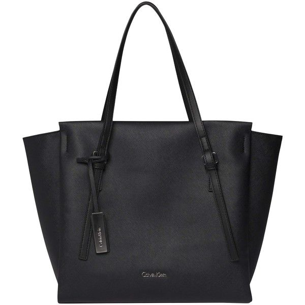 Calvin Klein Marissa Large Tote Bag, Black featuring polyvore, women's fashion, bags, handbags, tote bags, calvin klein purse, handbags purses, man tote bag, hand bags and man bag