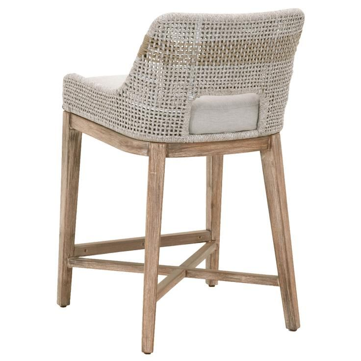 Counter Stool Taupe White Flat Rope, Orient Express Furniture Counter Stools