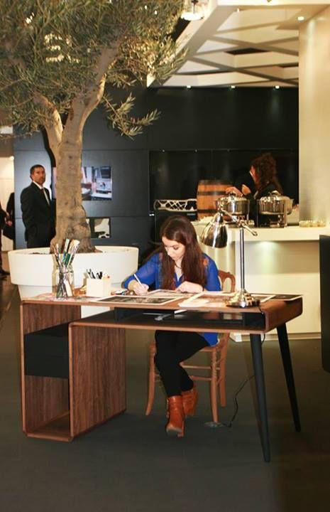 Around.U desk was chosen by SLM-Schmidt Light Metal to be part of Ana Aragão Studio at Euroguss 2014! #internationalevent #twosixnews #AroundU