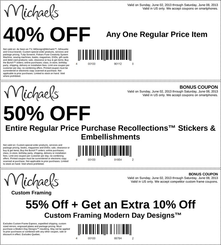 pinned june 2nd 40 off a single item and more at michaels coupon via