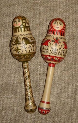 Russian folk crafts: Mezen painting