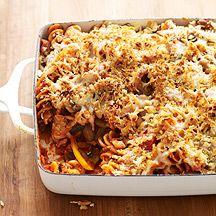 Chicken Sausage, Mushroom and Pasta Casserole