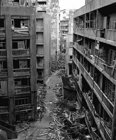 Gunkanjima, Japan. This island is one among 505 uninhabited islands in the Nagasaki Prefecture.  As petroleum replaced coal in Japan in the 1960's, coal mines began shutting down all over the country, and Hashima's mines were no exception. In 1974 Mitsubishi officially announced the closing of the mine, and today it is empty and bare, with travel currently prohibited.