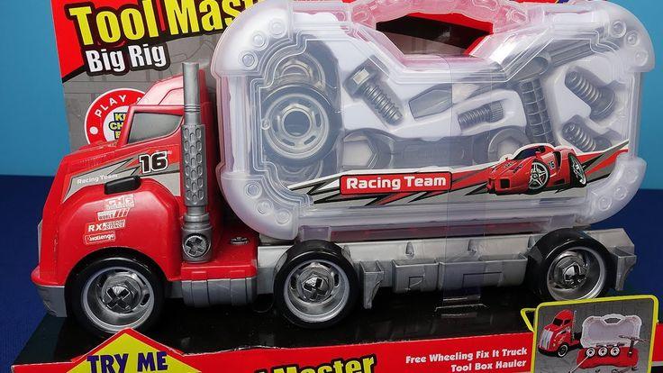 Camion per bambini. Arnesi per camion per bambini. Video sul camion gioc...