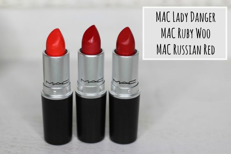 mac lady danger ruby woo russian red comparisson...RUSSIAN RED--B+...Described as an 'intense blue-ish red' this is the deepest of the bunch and for me probably the true 'Hollywood' red of the trio. A deep red that is perfect for a red carpet or full on glamorous look.