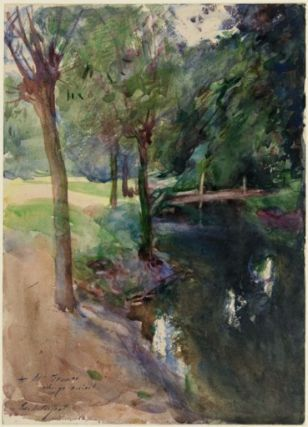 Sargent, The Shadowed Stream, watercolor. MFA accession number 23.727