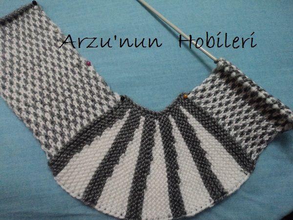 """Arzunun Hobileri: Örgü patik modeli ve yapılışı... [   """"Russian WEB, PHOTO for knitted ballerina style slippers"""" ] #<br/> # #Knitting,<br/> # #Kapcie,<br/> # #Ballerinas,<br/> # #Slippers,<br/> # #Shoes,<br/> # #Beautiful,<br/> # #Model,<br/> # #Tissues,<br/> # #Do<br/>"""