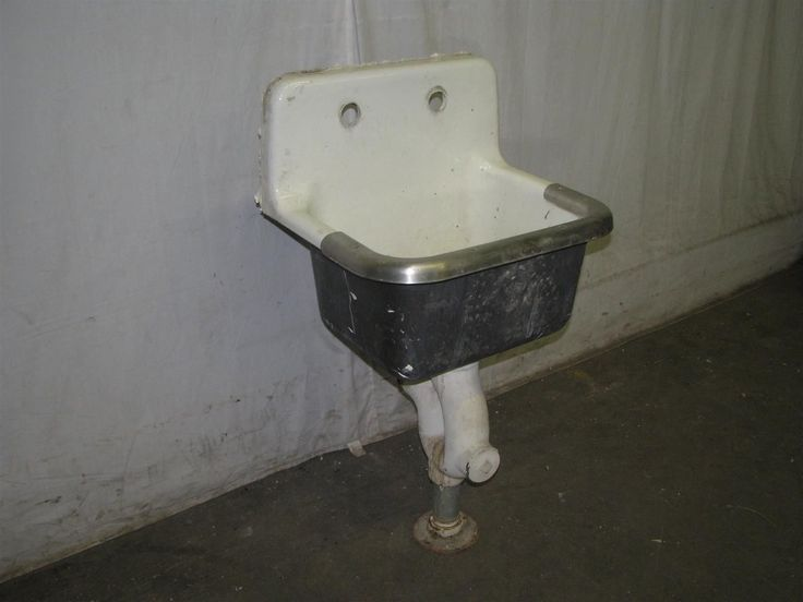 Antique Industrial Porcelain Over Cast Iron Slop Sink eBay