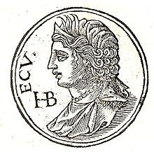 Hecuba (also Hekábe, Hecabe, Hécube; Ancient Greek: Ἑκάβη) was a queen in Greek mythology, the wife of King Priam of Troy during the Trojan War, with whom she had 19 children.  These children included several major characters of Homer's Iliad such as the warriors Hector and Paris and the prophetess Cassandra.