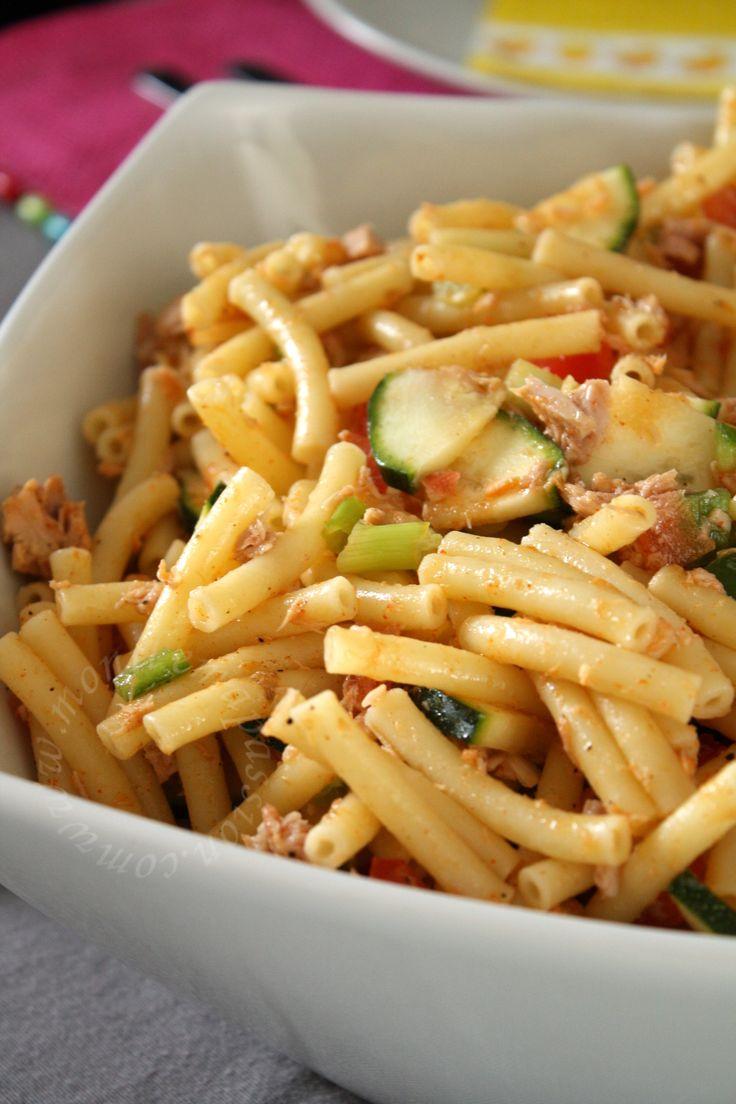 Salade de macaroni au thon - Macaroni tuna salad ( mayonnaise free)