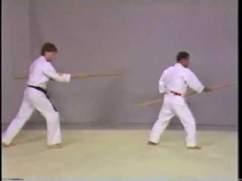 Isshin Ryu Bo-Bo Kumite, with Master Curt Sawyer and Grand Master Angi Uezu