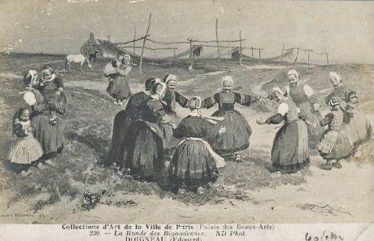 PONT-L'ABBE - illustration, ronde des Bigoudennes de DOIGNEAU