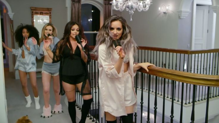Little Mix Hair Music Video, this is taken from their music video . They look well choreographed, fun and energetic. The band has also been represented as sexy and talented, due to the clothing and microphones showing their singing ability.