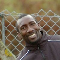 3rd December 2009  Jimmy Floyd Hasselbaink - Woking Supporters will be interested to see a picture taken earlier this week, courtesy of the Surrey Advertiser, of Jimmy Floyd Hasselbaink, following his acceptance of the club's invitation to train with the squad to help keep himself fit and do some coaching as part of his preparation for taking his UEFA A licence.