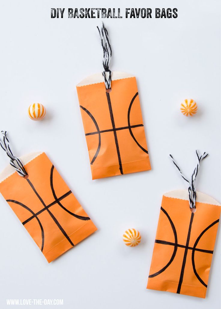 Basketball Party Favors by MichaelsMakers Lindi Haws of Love The Day