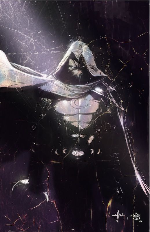 Moon Knight by Francesco Iaquinta  | comic art inspiration | digital media arts college | www.dmac.edu | 561.391.1148