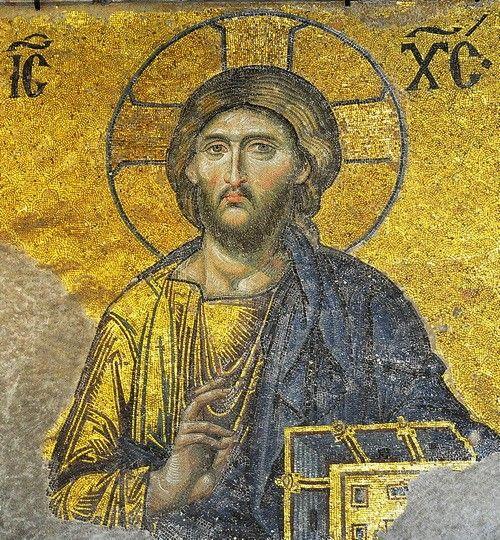 Le Christ Pantocrator, sublime mosaïque du 13ème siècle ;basilique Sainte-Sophie,