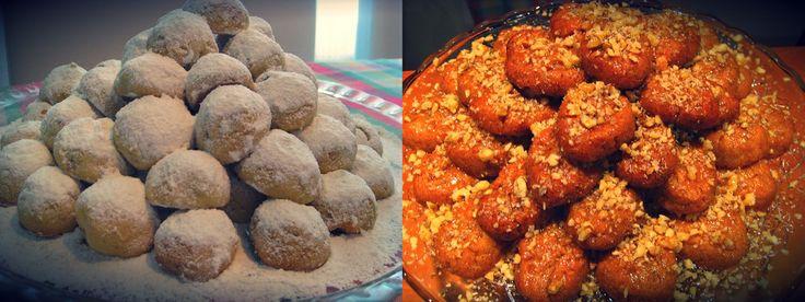 Traditional Greek Christmas Sweets! #Kourampiedes and #Melomakarona  Merry Christmas!!