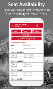 Indian Railway IRCTC PNR APP is a very convenient app. It is designed in an elegant fashion with an easy to use interface. You can check- live Train Enquiry/status, PNR status, irctc seat availability, ticket fare,...
