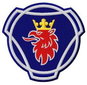 Scania logo machine embroidery design. Machine embroidery design. www.embroideres.com