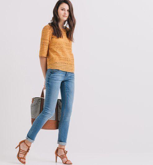 Jean slim Femme jean clair - Promod