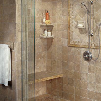 Bathroom Tile   Showers   Bench And Corner Shelf