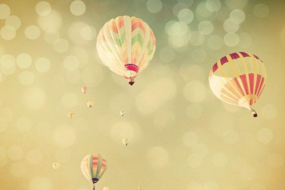 Hot Air Balloon 5x7 Dreamy Whimsical by TriciaMcKellarPhoto, $17.00