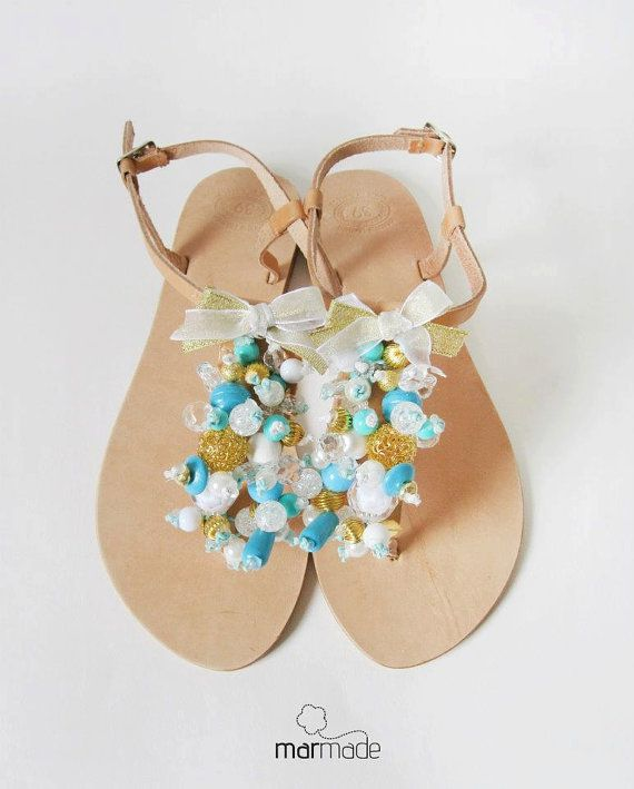 Sandals  Handmade Sandals decorated with beautiful by MyMarmade, €43.00 #sandals #marmade