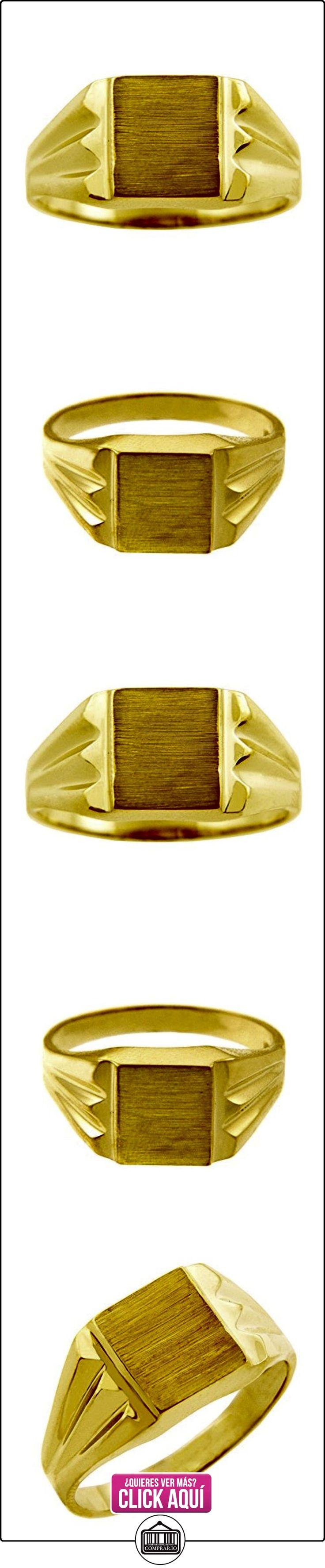 Pequeños Tesoros - Anillos Hombres Alianza De Boda 10 Kt Oro 471/1000 Sortija De sello  ✿ Joyas para hombres especiales - lujo ✿ ▬► Ver oferta: https://comprar.io/goto/B01277Q4EY