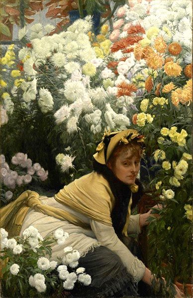 Chrysanthemums, c.1874, James Tissot: