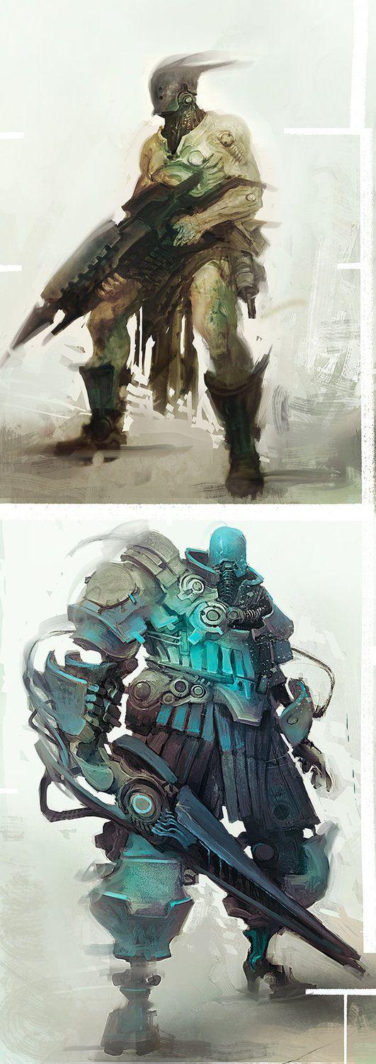 Character Design Portfolio Presentation : Best character art sci fi images on pinterest