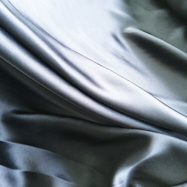 Dark Blue Satin Silk