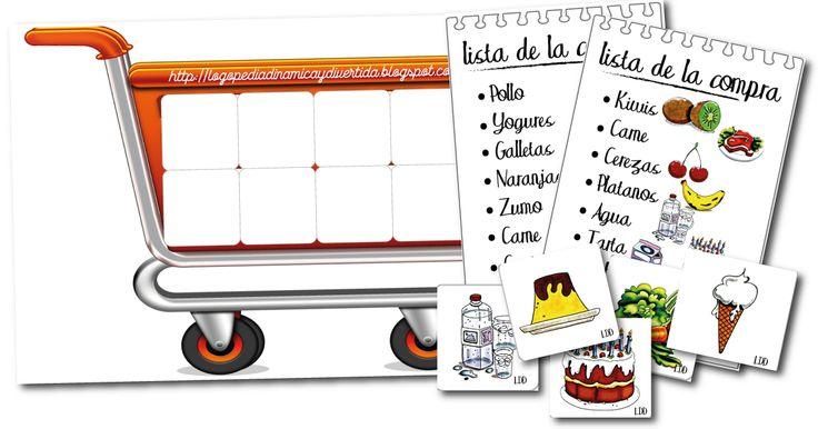 La lista de la compra es un juego de observación, atención y memoria que sirve para trabajar vocabulario, construcción de frases, lectoescr...