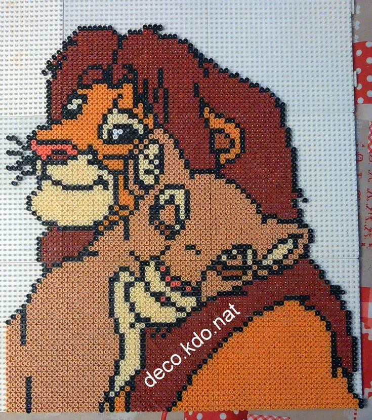 The Lion King hama beads by deco.kdo.nat - Pattern: https://de.pinterest.com/pin/374291419005734853/