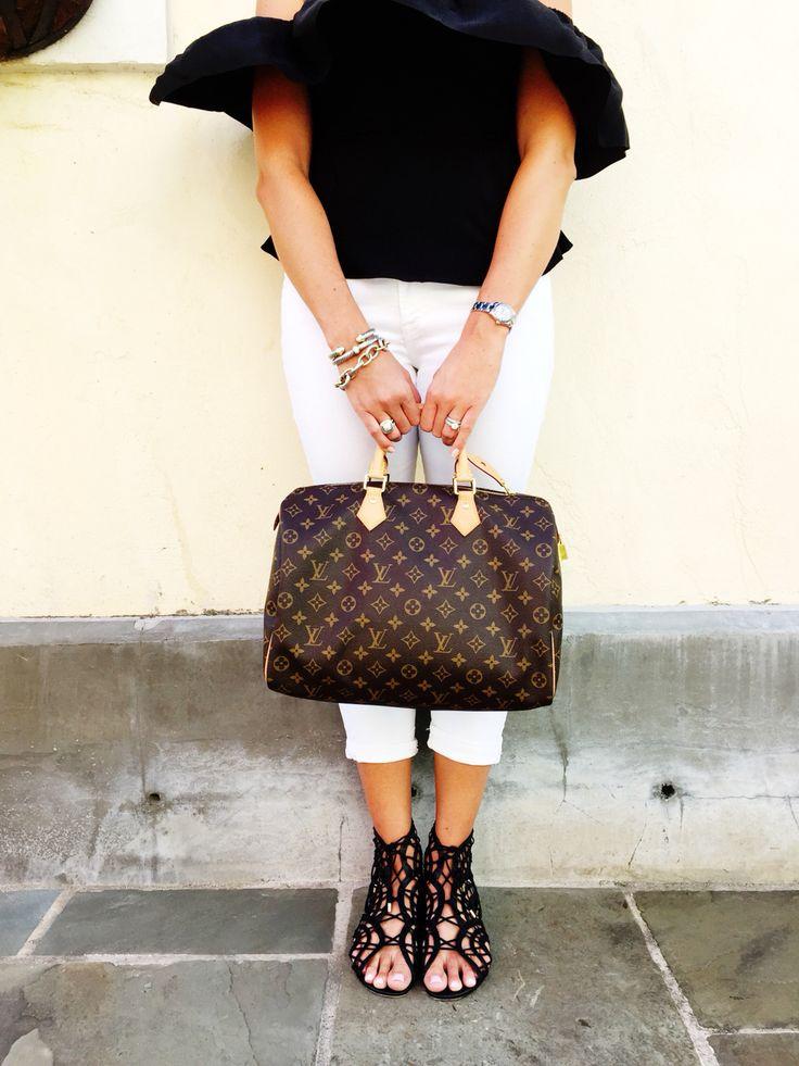 Louis Vuitton Speedy 35 & Joie 'Renee' sandals