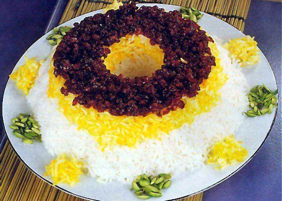 Persischer Reis mit Safran und Berberitzen