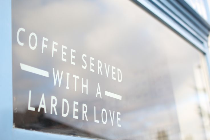 Coffee served with a Larder love....