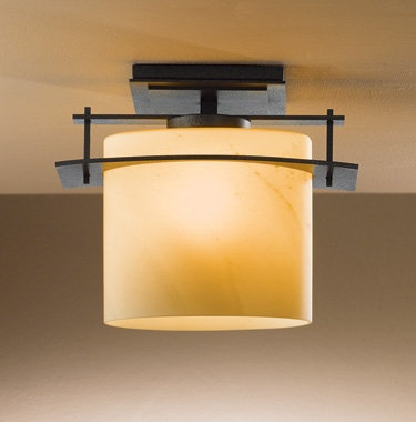 Hubbardton Forge 127525 1 Light Semi-Flush Ceiling Fixture from the Arc Ellipse Collection
