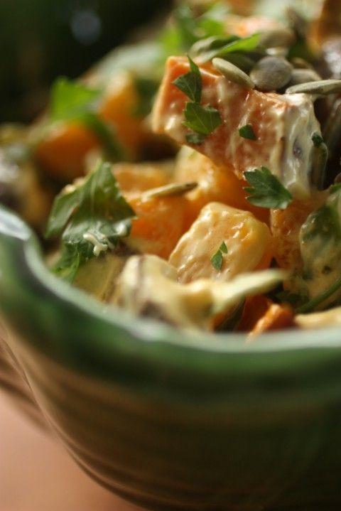 Kumara & Orange Salad with curry dressing | Nourish MagazineNourish Magazine