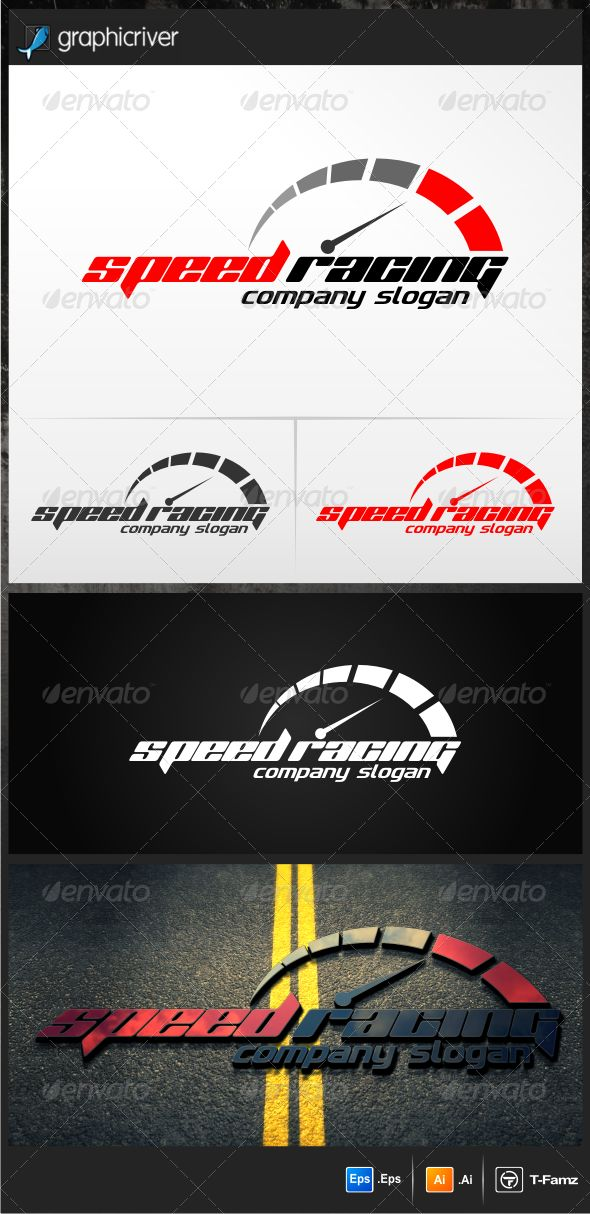 Speed Racing  #GraphicRiver         -Perfect for car tuning, motor sport, This logo is simple but cool -easy to edit the -text and slogan Full Instruction and Font Name/Link are provided in README file Cheers….!     Created: 17April13