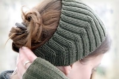 Calorimetry: gestricktes Stirnband mit verkürzten Reihen
