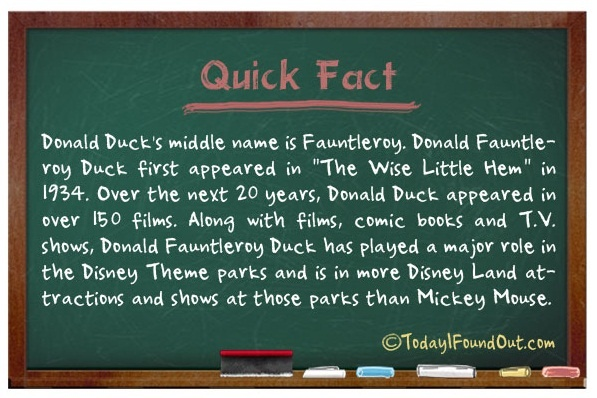 here's a fun fact about Donald Ducks Middle Name