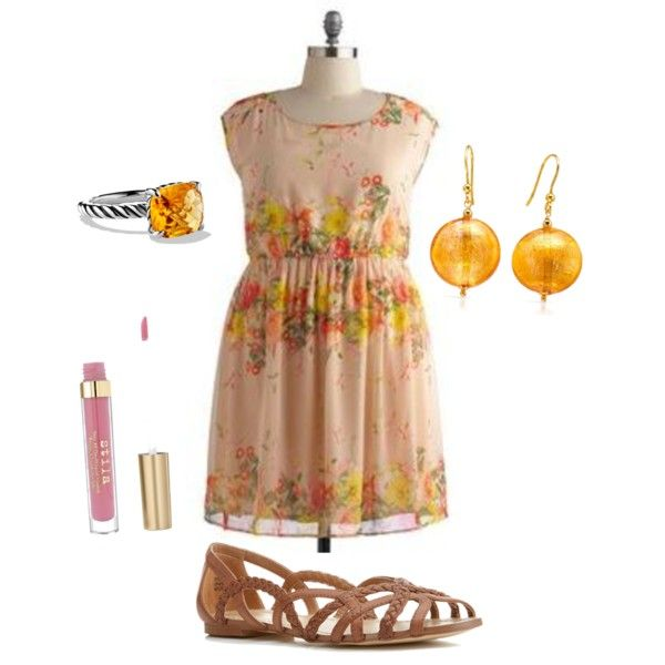 Plus size floral citrus floral love and accessories.