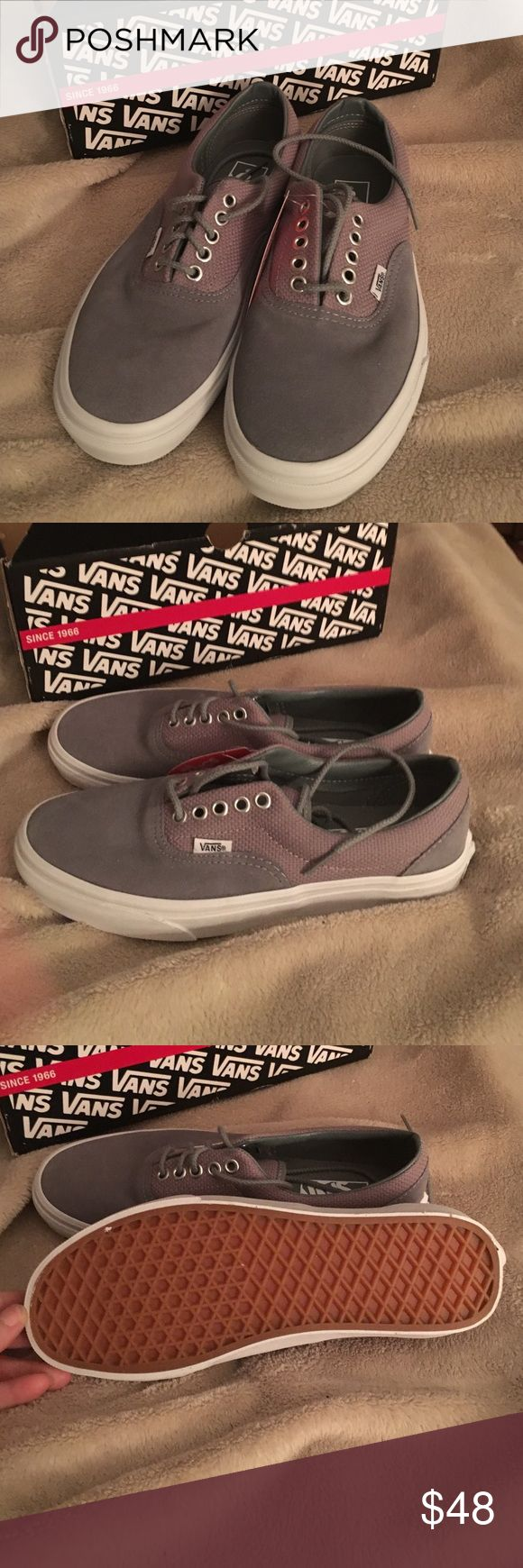 New Hemp gray leather Vans tennis shoes men's 7.0 New gray Vans tennis shoes leather men's 7.0 women's 8.5 Vans Shoes Athletic Shoes