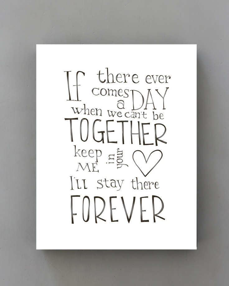 If There Ever Comes A Day Winnie The Pooh Quote Poster