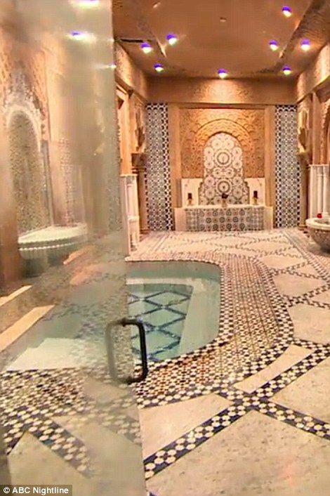 Mohammed Hadid's ornate Turkish bath