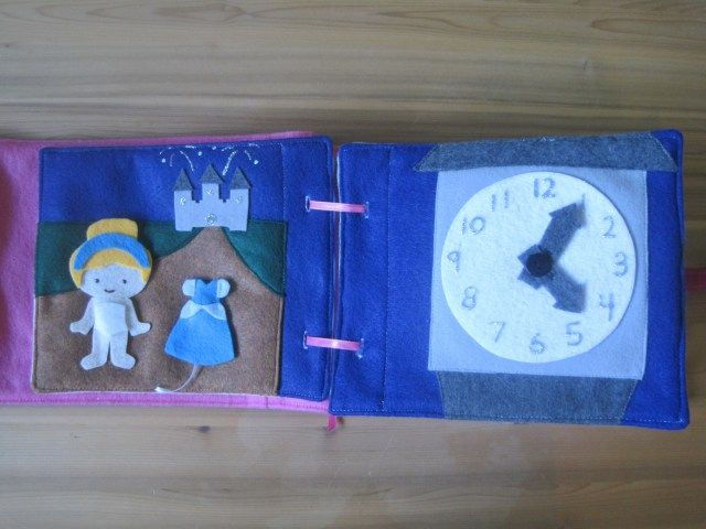 magnetic dress Cinderella and time for the ball clock.